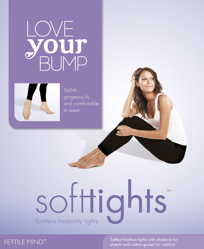 SoftTights Footless Maternity Tights-Black